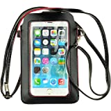 SumacLife 2877710 Premium Universal PU Leather Women Shoulder Bag Pouch for Apple iphone 6 Plus / Samsung Galaxy Note 3 / Note 4 / Note Edge / Samsung Mega 6.3 / Nokia Lumia 1520 - Black