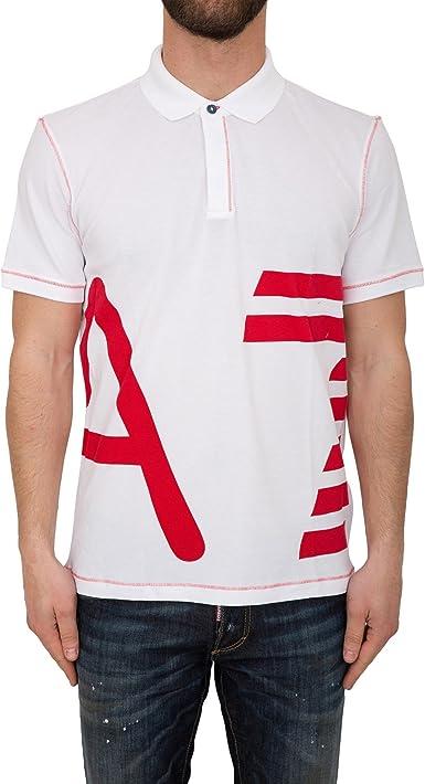 Emporio Armani - Polo - para Hombre Blanco XXL: Amazon.es ...