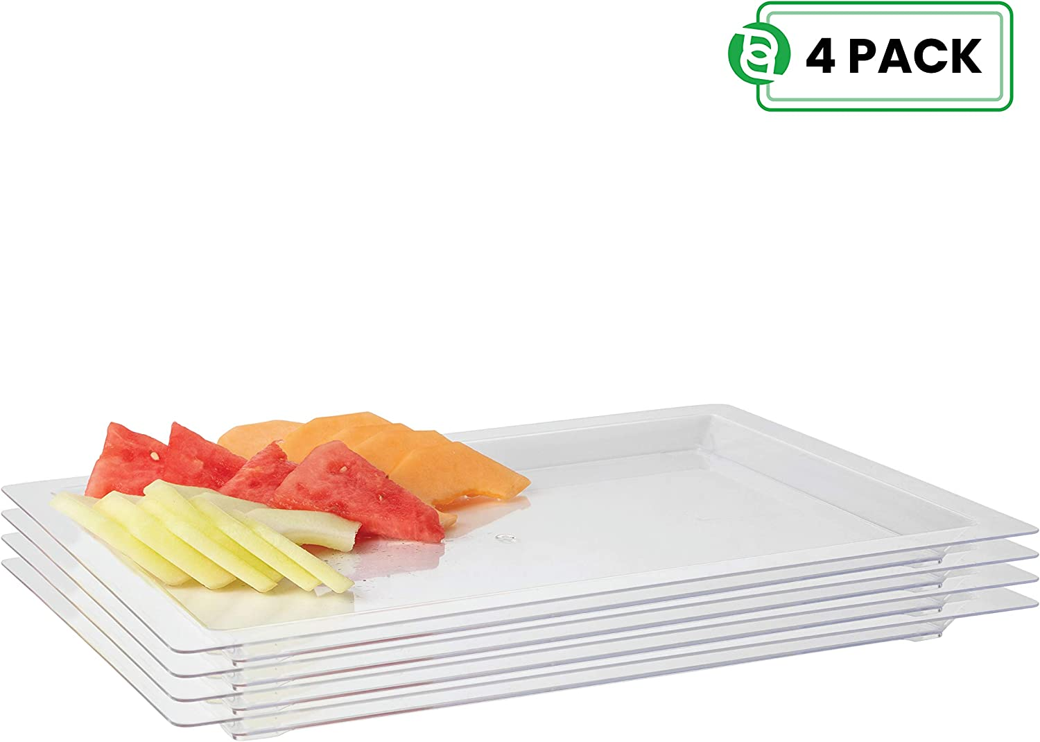 New 10 Pack Plastic Platter Trays With Lids Buffet Catering Party Wedding Food