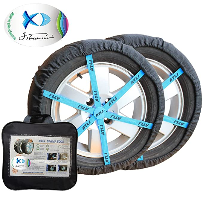 Funda antideslizante de tracción sobre nieve para neumáticos: Amazon.es: Coche y moto