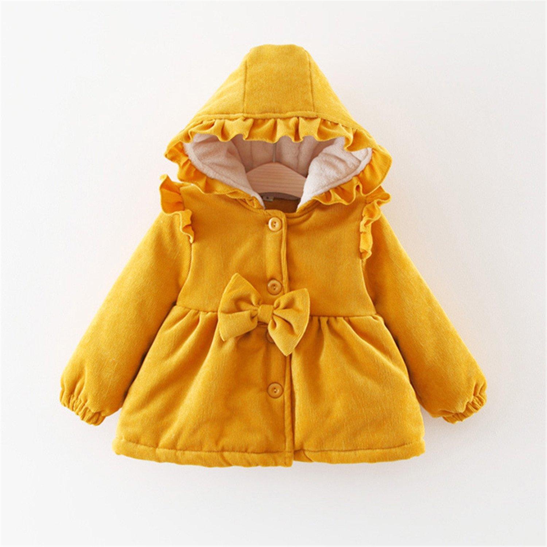 15d913a68 Amazon.com: Baqijian Girls Parka Winter Coat Fur Christmas Kids ...