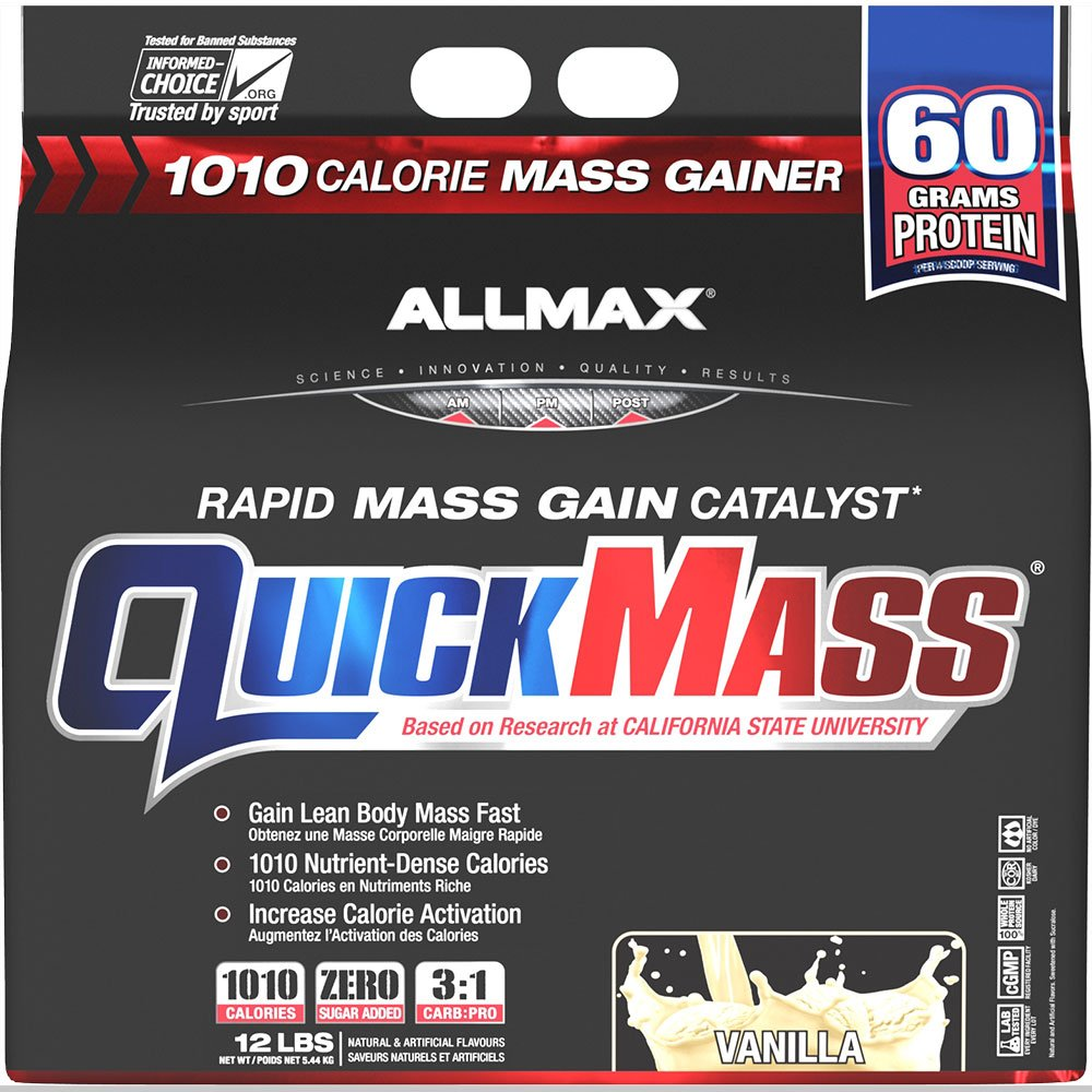 Allmax Quickmass Loaded Vanilla - 12 lbs by ALLMAX Nutrition (Image #1)