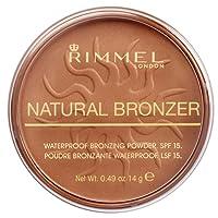 Rimmel - Natural Bronzer -Terra Abbronzante Waterproof a Lunga Durata SPF 15 - 025 Sun Glow - 14 g