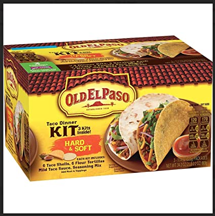 Old El Paso Hard Soft Taco Dinner Kit 36 Tacos 18 Taco Shells 18 Flour Tortillas Amazon Com Grocery Gourmet Food