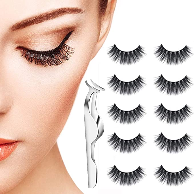 9ee85bc7f18 5 Pair False Eyelashes, 3D Natural Thick Fake Lashes Long Handmade False  Eyelashes Set For Makeup: Amazon.co.uk: Beauty