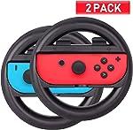 ABMSNO Racing Games Steering Wheel Grip-Suitable for Nintendo Switch Mario Kart,
