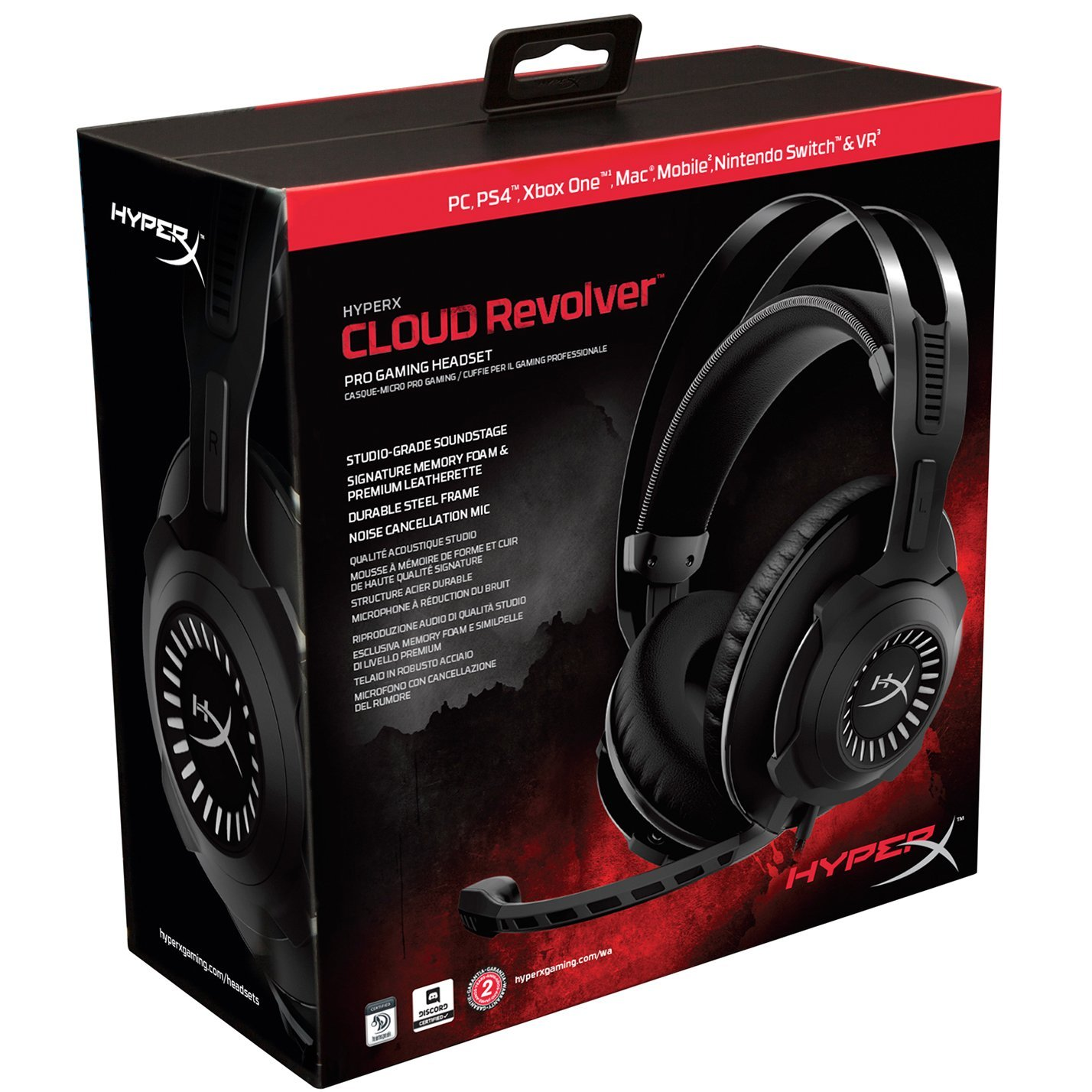 HyperX HX-HSCR-GM Cloud Revolver Gaming Headset for PC & PS4 by HyperX (Image #8)