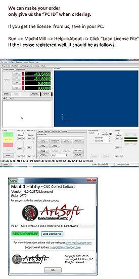 Cnc Mach4 Software License You Get 1 CD Artsoft Mach4 Hobby