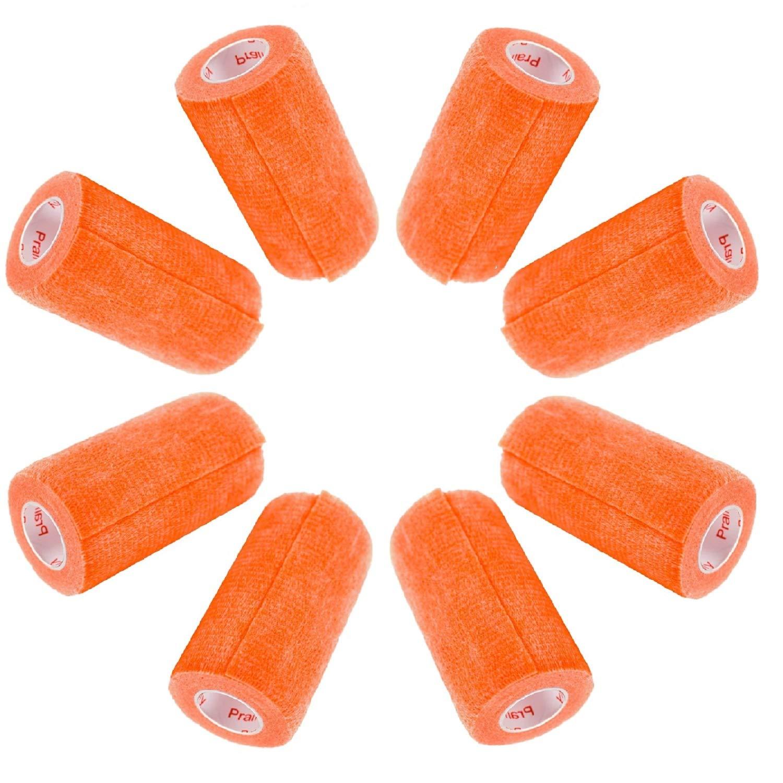 4 Inch Vet Wrap Tape Bulk (Assorted Colors) (6, 12, 18, or 24 Packs) Self-Adhesive Self Adherent Adhering Flex Bandage Rap Grip Roll for Dog Cat Pet Horse 71EhMxe%2BvJL