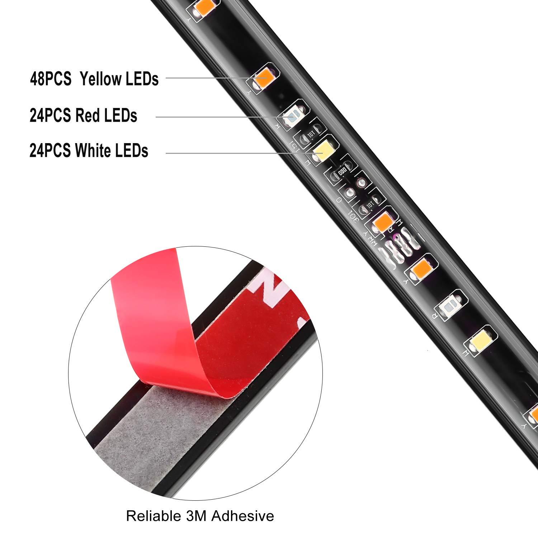AUTUNEER 48inch Tailgate Light Bar 96LEDs Truck Light Strip Yellow//Red//White Waterproof Running Reverse Braking Turn Signal for Pickup SUV RV Trailer Dodge Ram Toyota Chevy