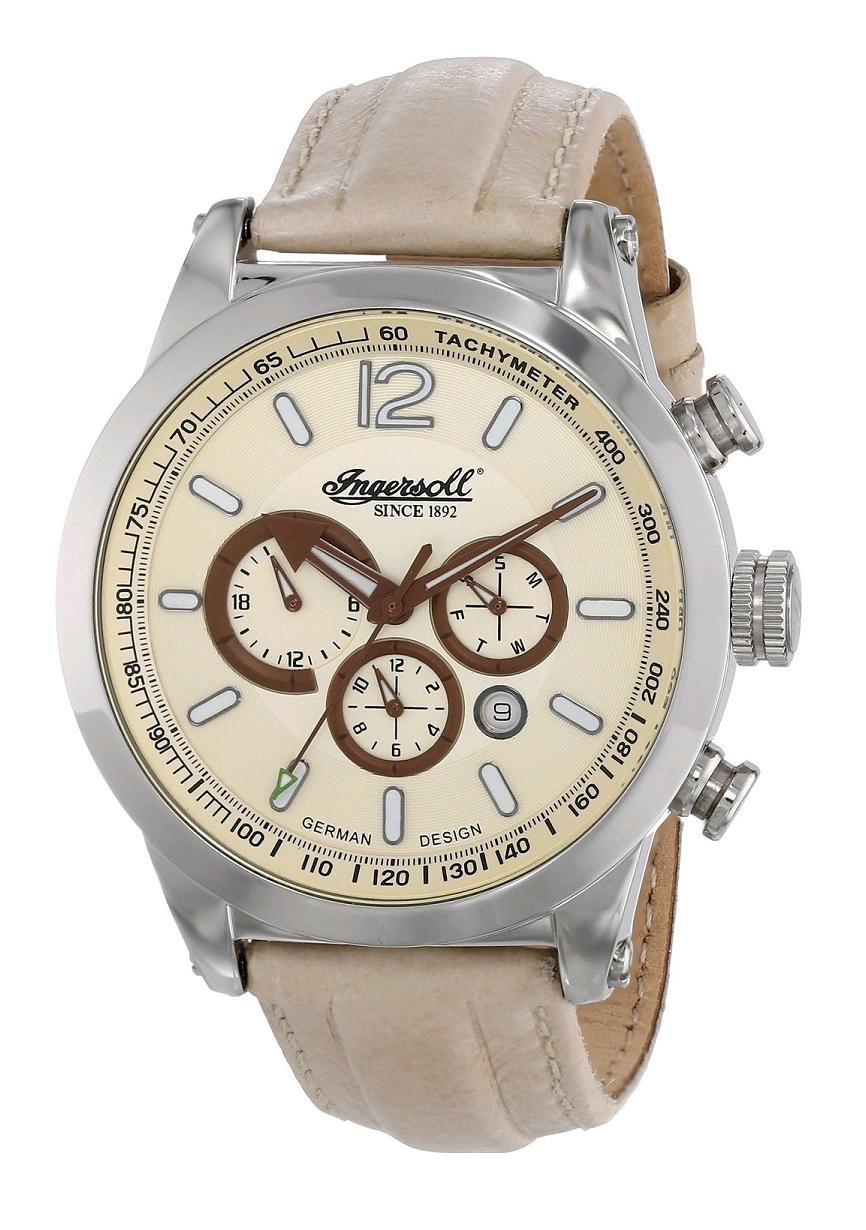 Ingersoll Men's IN3220CH Taos Analog Display Automatic Self Wind Beige Watch