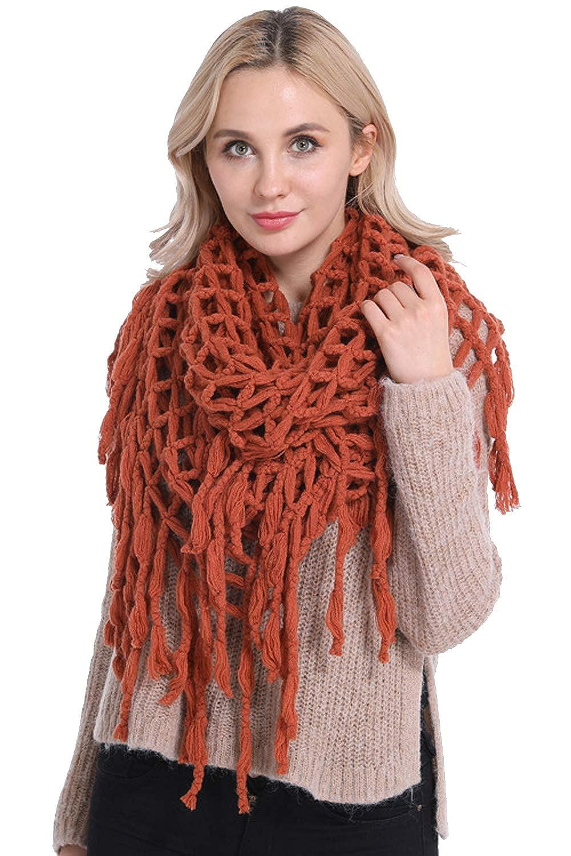 Echarpe Chaude Femme Hiver Tissée Portage Vintage Grande Chale au Crochet  Laine Tricotée Oversize Mode Foulard 8938b1db24b