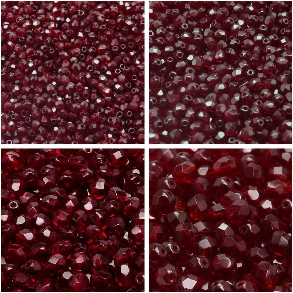 60pcs faceted fire polish small spacer Marble pink 4mm Czech fire-polished faceted glass beads round