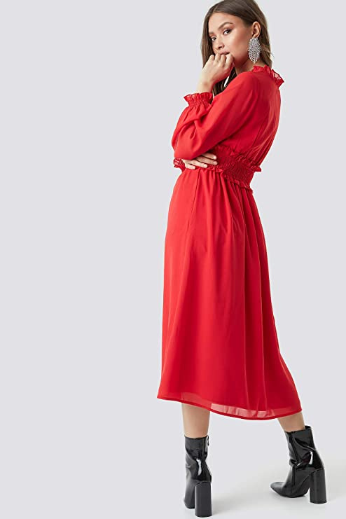 kleid-rot-herbst-outfit