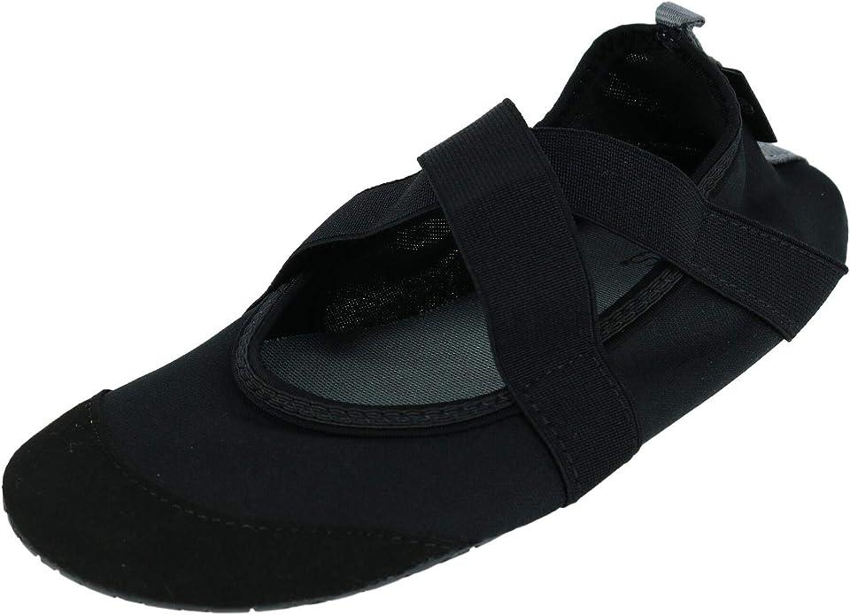 FitKicks Original Women/'s Foldable Footwear Yoga Sporty Shoes Small, Black V2