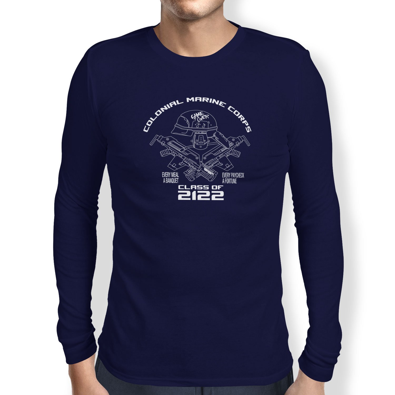 TEXLAB - Colonial Marine Corp Class of 2122 - Herren Langarm T-Shirt:  Amazon.de: Bekleidung