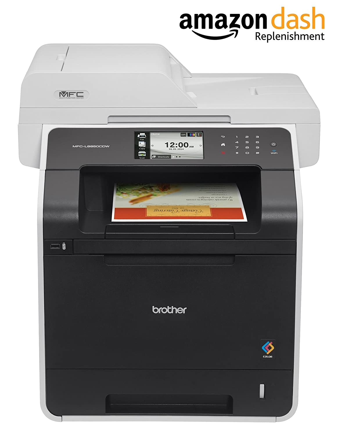 Amazon.com: Brother Printer MFC-L8850CDW Wireless Color Laser ...