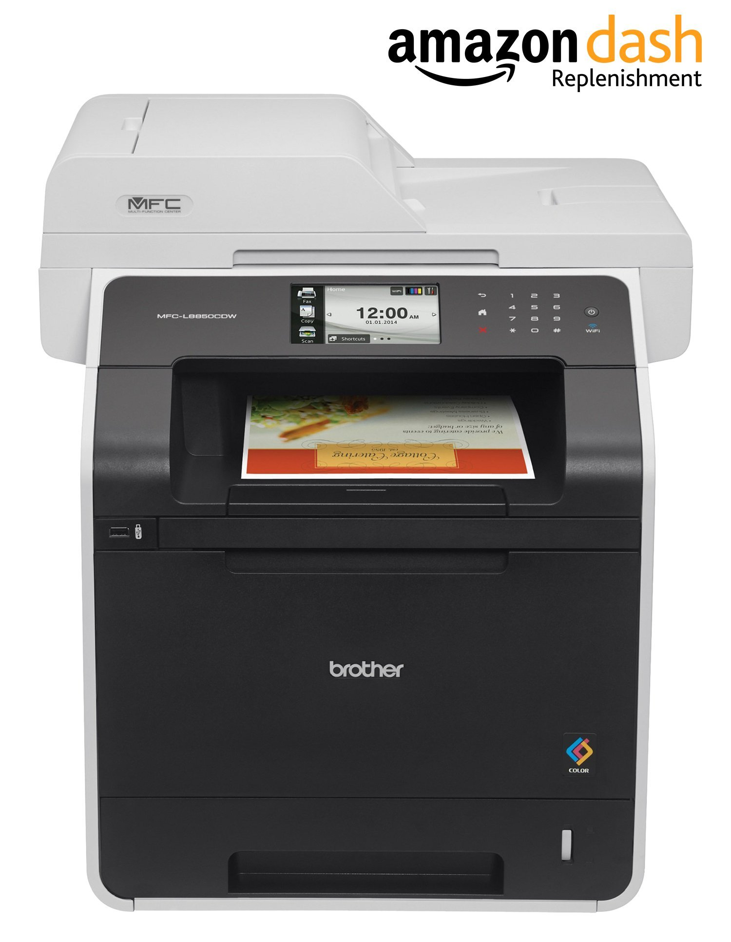 Brother Printer MFC-L8850CDW Wireless Color Laser Printer with Scanner, Copier and Fax, Amazon Dash Replenishment Enabled