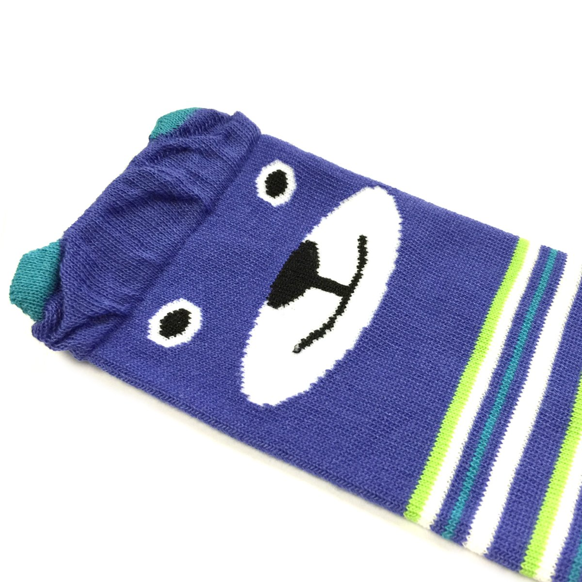 4 Pack Blue Stripe Bear Green Black Stripe Ruched Blue Allydrew Footless Leg Warmers for Babies and Toddlers
