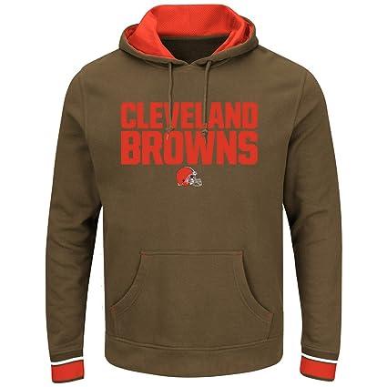 be303e45 Amazon.com : Majestic Cleveland Browns Championship Fleece Pullover ...