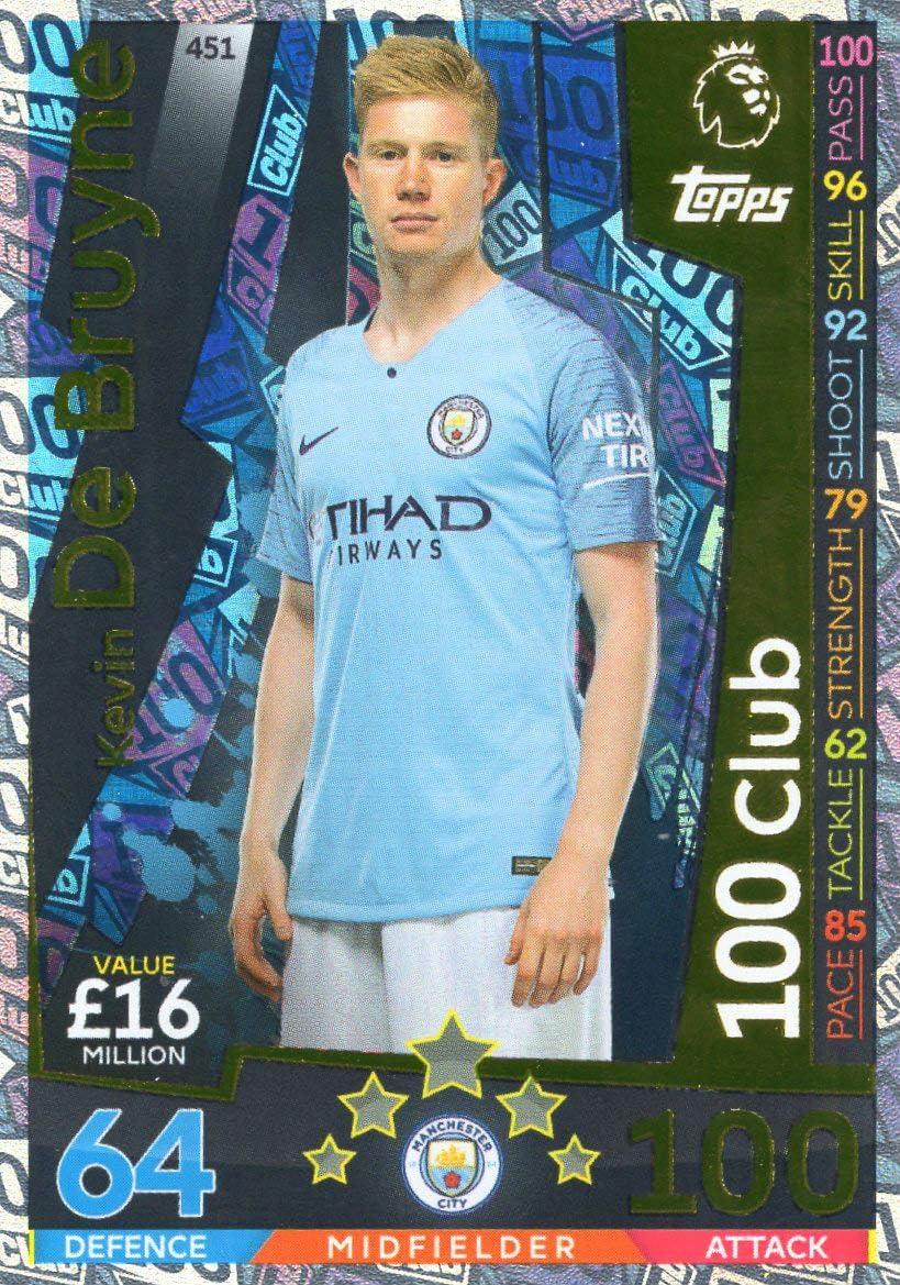 /Man City # 451 MATCH ATTAX 2018//19/Kevin de Bruyne 100/Club Card/