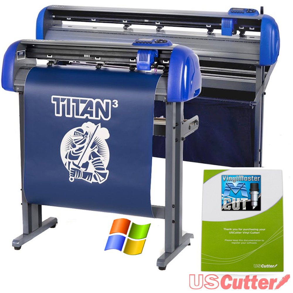 28'' USCutter TITAN 3 Vinyl Cutter with Servo Motor and ARMS Contour Cutting Plus Design/Cut Software