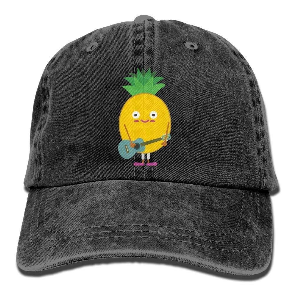 2018 Adult Fashion Cotton Denim Baseball Cap Pineapple Playing Guitar Classic Dad Hat Adjustable Plain Cap JTRVW Cowboy Hats
