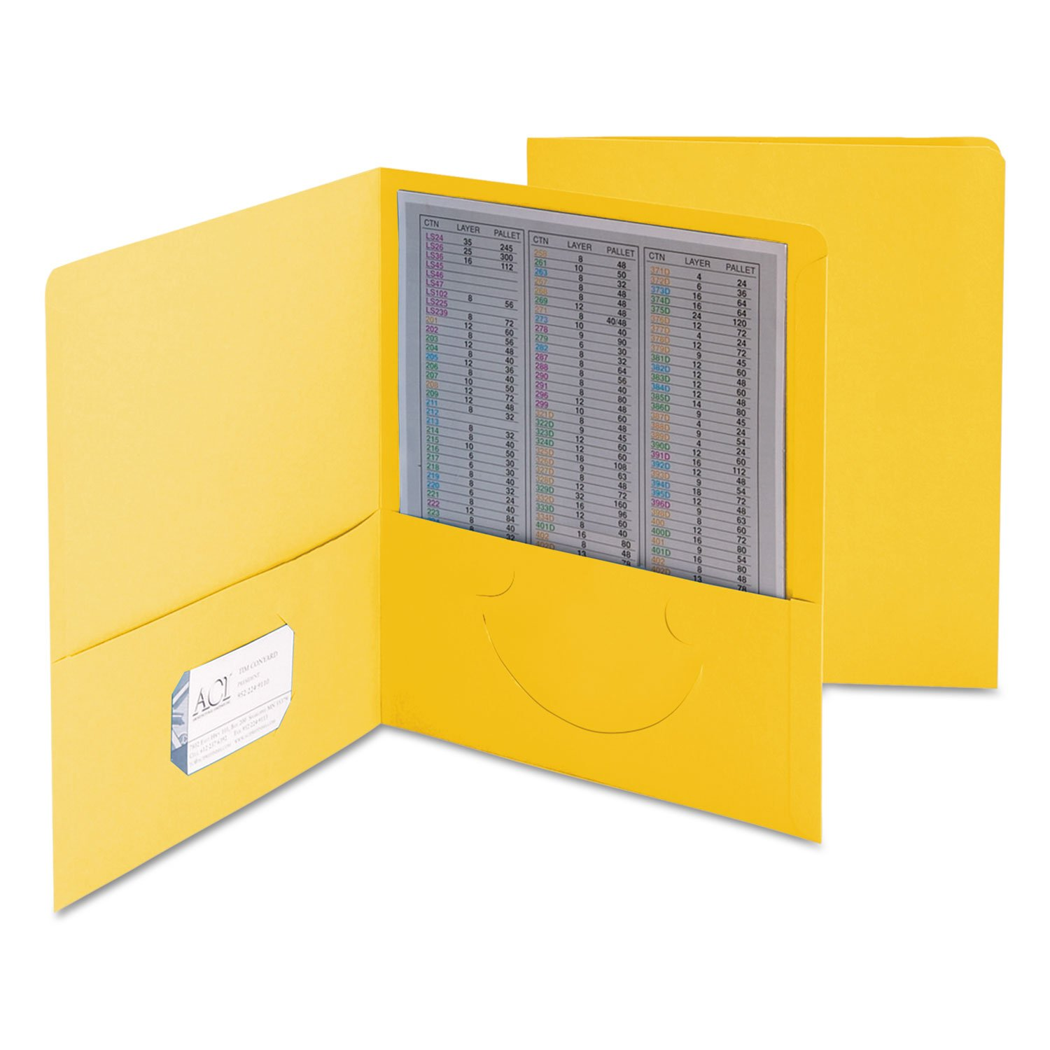SMD87862 - Smead 87862 Yellow Two-Pocket Heavyweight Folders
