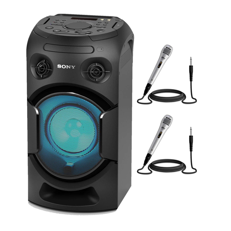 Sony MHC-V21 High Power Audio System with Bluetooth Karaoke Bundle