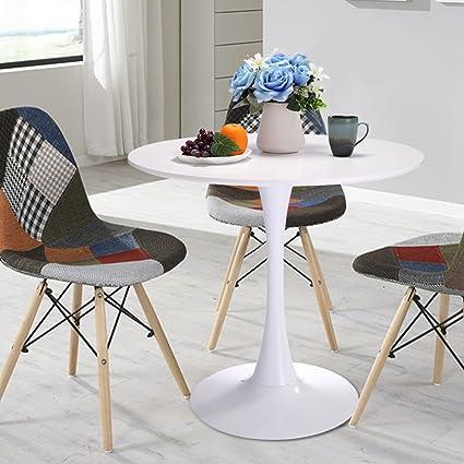 Amazoncom LAZYMOON Round Wood Top Tulip Style Wood Elegant - Tulip table wood top