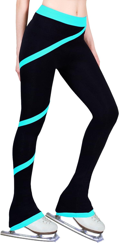 Turquoise, Adult Medium ny2 Sportswear Figure Skating Spiral Polartec Polar Fleece Pants