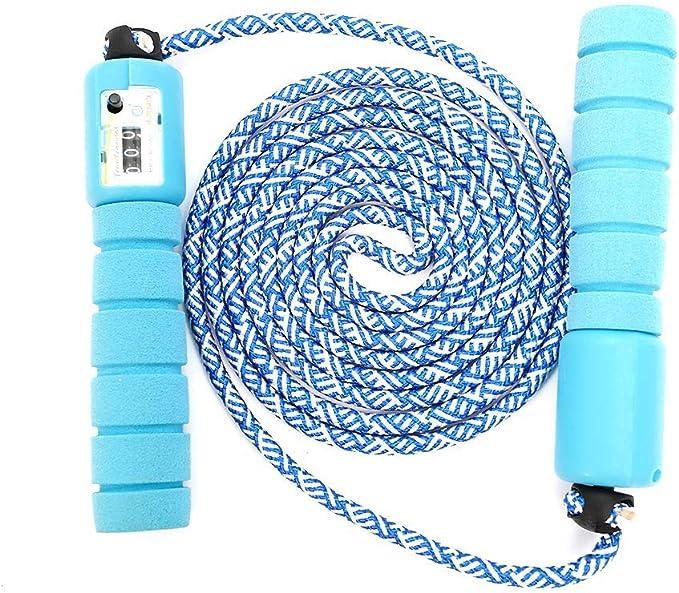 multifun Springseil mit digital Z/ähler ideal f/ür Crossfit Stahl Seil mit PVC Ummantelung Anzahl der Spr/ünge und Kalorienverbrauch Profi Kugellager /& Anti-Rutsch Griffe Speed Rope Profi Sport