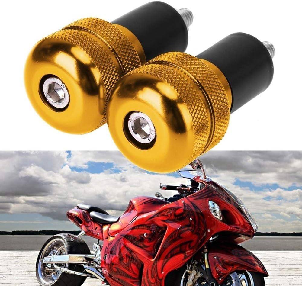 1 Paire 5.6 cm Barre de poign/ée anti vibration pour moto Bouchon Prise Extr/émit/és Bouchons 22 mm Couleurs Argent