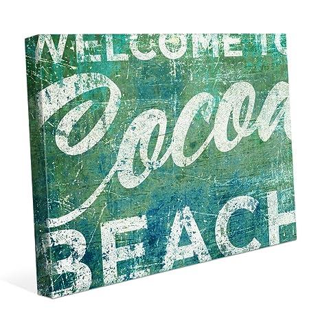 Amazon.com: Bienvenido a Cacao playa verde y azul lona ...