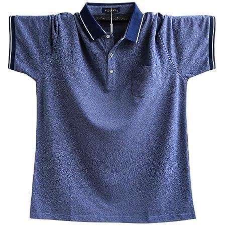 FuweiEncore Camisetas clásicas de Polo con Bolsillo para Hombre ...
