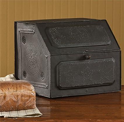 Antique Replica of Tin Bread Box/desk Storage 21-190 - Amazon.com: Antique Replica Of Tin Bread Box/desk Storage 21-190