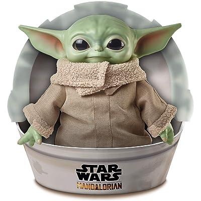 Star Wars Baby Yoda Child de la serie The Mandalorian, figura de 28 cm (Mattel GWD85), color verde