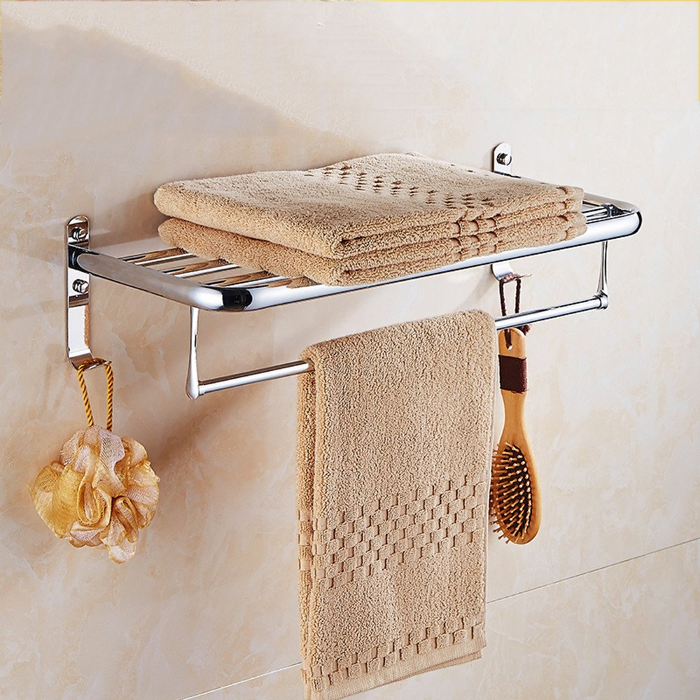 Accesorios de bantilde;o Yomiokla - Toalla de metal para cocina, cocina, cocina, inodoro, balcoacute;n y bantilde;oPared de acero inoxidable, incorporada en el estante Ofertas 13e6dc