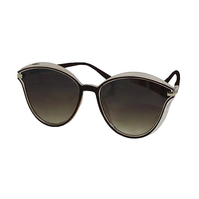 FERETI Gafas De Sol Mujer Marrón Dorado Pasta Vintage Moda ...