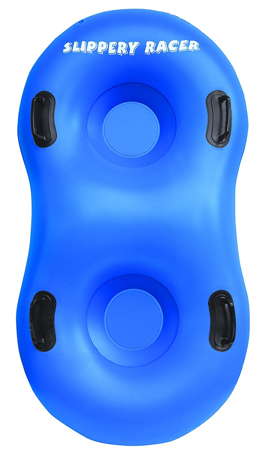 Slippery Racer Airdual Inflatable Snow Tube Sled Blue