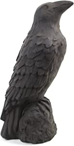 Raven Statue French Figure Crow Home and Garden Statues Concrete Ravens Statuary