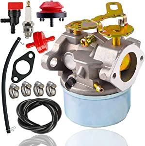 640084B Carburetor+spark plug+fuel line for Tecumseh 632107 640084 640105 640299 632107A 640084A 4 & 5 HP Engines Carburetor ,Tecumseh 5HP MTD 632107A 632107 640084 640084A Toro 521 Snow Blower HSSK40