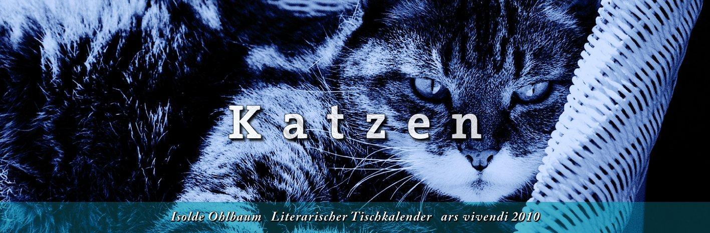 Literarischer Tischkalender Katzen 2010
