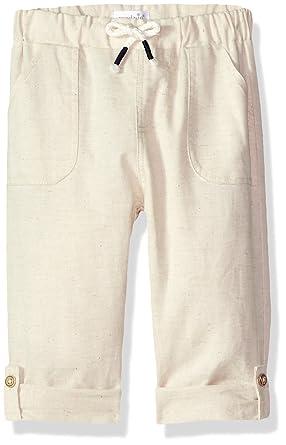 b5e84495a Amazon.com: Mud Pie Baby Boys Faux Linen Drawstring Waist Pants: Clothing