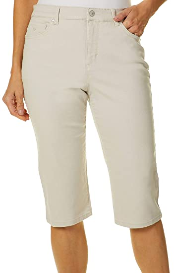 fd2e0cb973b3a Gloria Vanderbilt Petite Amanda Art Motif Skimmer Shorts 4P Scottsdale Denim  Blue