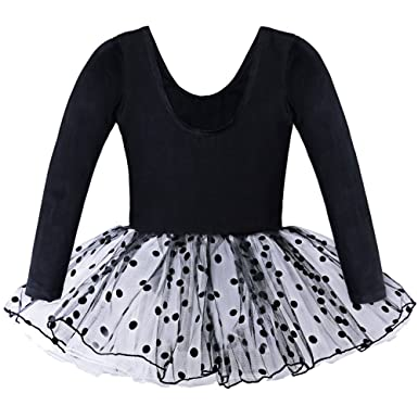fe98d2f5414c BAOHULU Toddler Girls Leotard Classic Polka Dot Ballet Tutu Dress 2-7 Years  B036_Black_XL