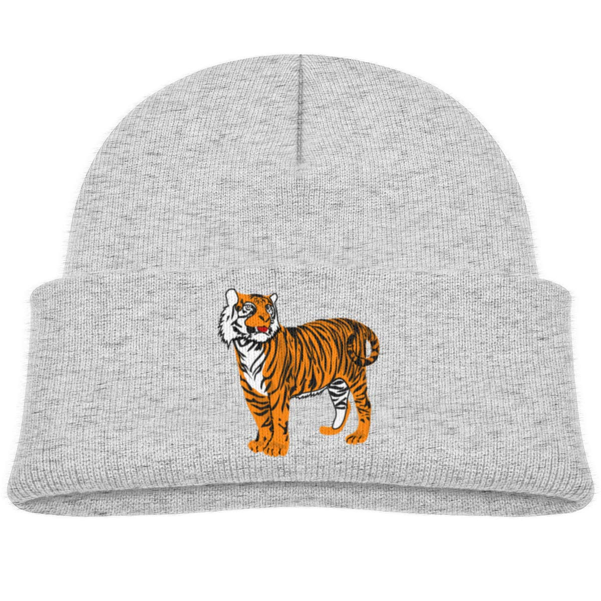 Baby Tiger Beanie Caps Skull Hats Baby Girls Gray
