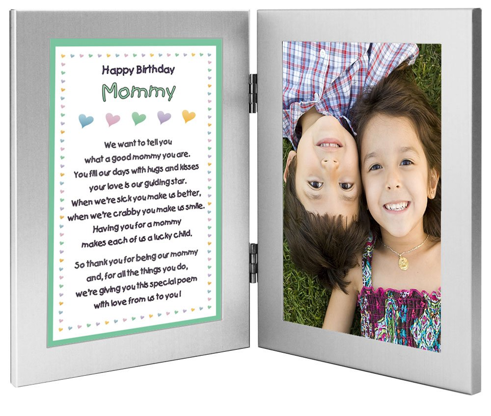 Mommy Birthday Gift for Mom From the Kids - Poem in Double Frame - Add Photo