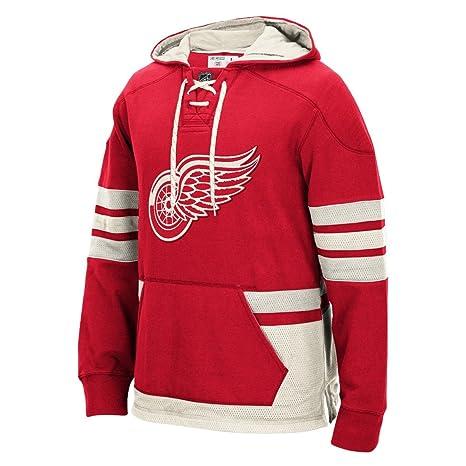 Detroit Red Wings NHL Reebok Red Premium Pullover Hoodie For Men (4XL) c7dea99db