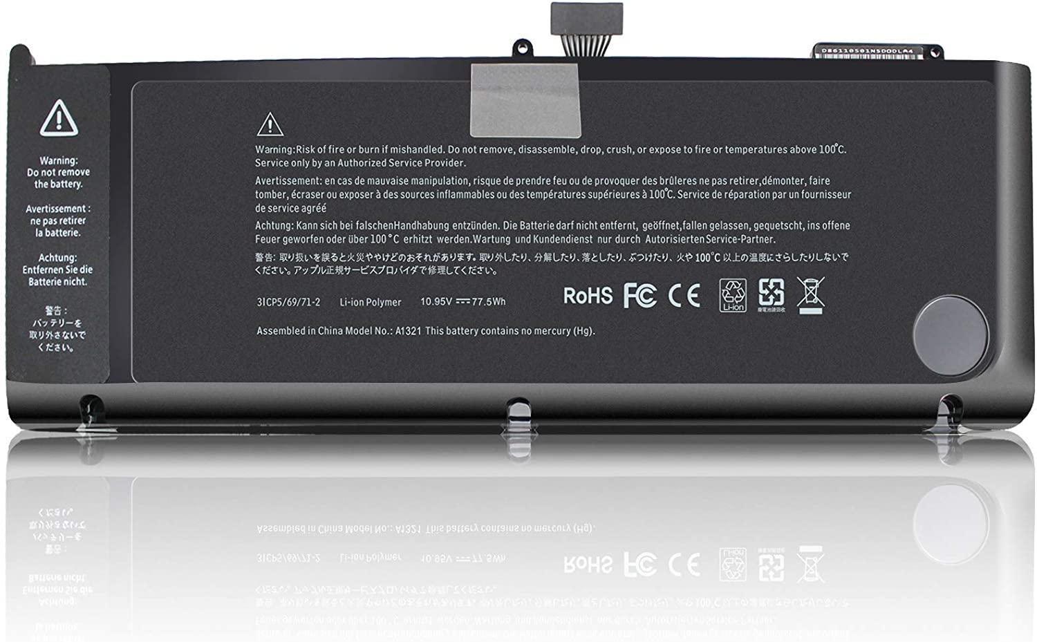 ROCKETY a1321 Battery Compatible with Apple MacBook Pro 15